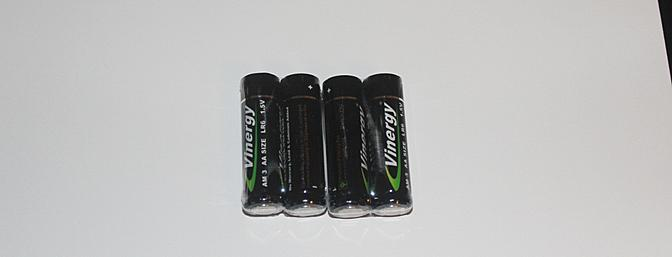 The 4 supplied batteries