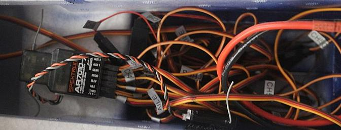 Despite the apparent chaos the labels on the wires made the connections easy and accurate.