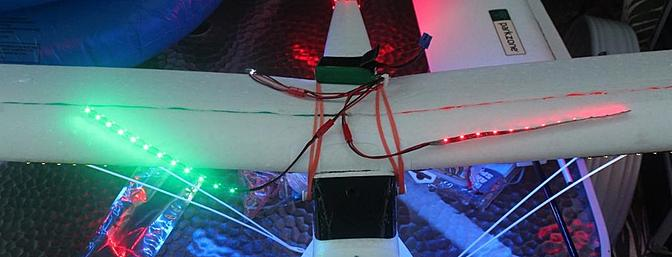 Two strips on top of my Super Cub as I play with where I want the additional lighting.
