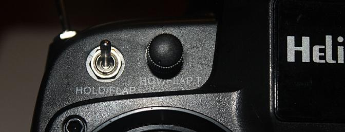 The dial on the top left front lets the pilot adjust the Up1 throttle curve from 51% to 100% when the UP1 switch is activated as shown in the picture below.