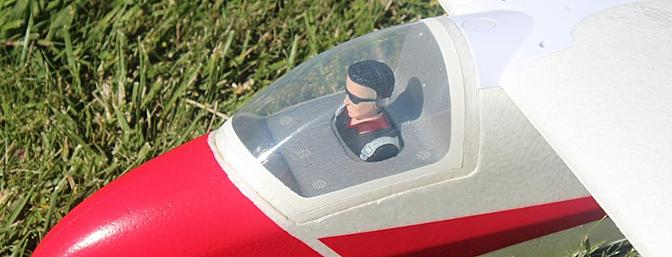 The pilot comes installed in the cockpit.