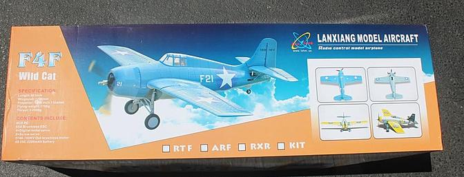 This is the box holding my F4F Wildcat.