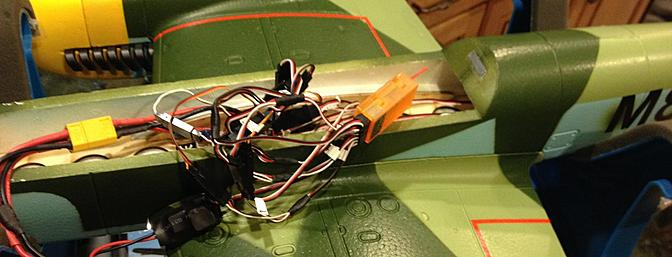 Quite a few wires to go into the narrow fuselage with the finished wing.