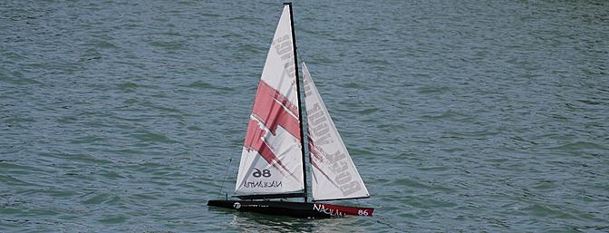 Both sails way over stressed due to my improper set up of the control lines in the winch servo.