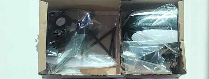 The small parts were both bagged and boxed to protect them and to protect the bigger parts from them during transit.