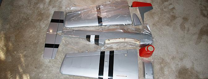 The main parts for the P-51