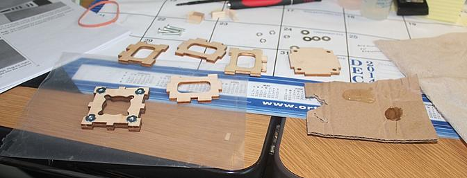 I have laid out the firewall parts and started the assembly by tapping in the blind nuts.