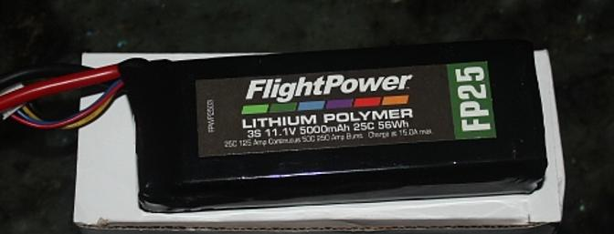 The included 3S 5000 LiPo Battery