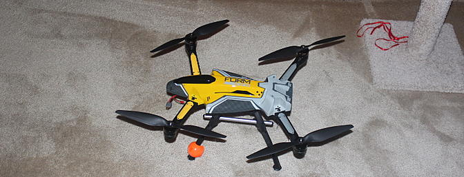 The Form 500 fully assembled and ready to fly.