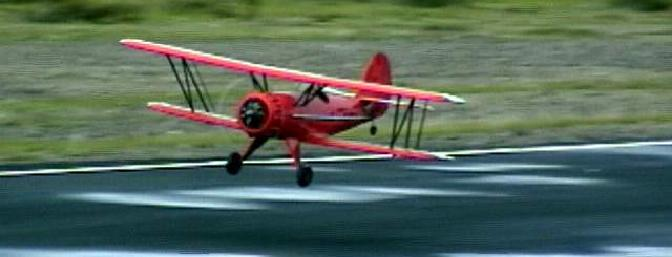 The Waco was stable in the air and surprisingly stable for a biplane on the ground
