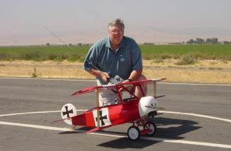 Here I am with my large converted Great Planes Dr-1 reviewed years ago. (Not currently available.)