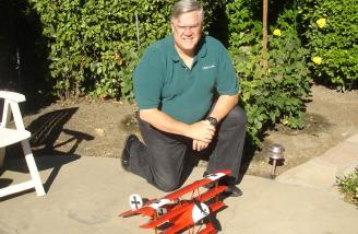 Here I am with my current little Great Planes Electrifly Dr-1.