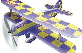 The blue model has a yellow checkerboard pattern.