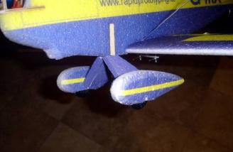 The completed and installed landing gear.