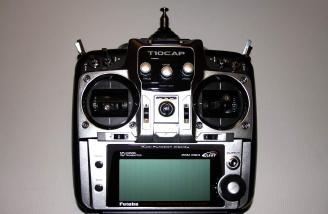 My Futaba T10CAP 2.4GHz transmitter.