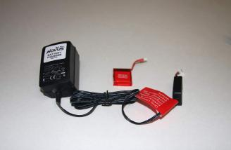 The SeaCobra came with its own wall converter/charger and one flight battery.