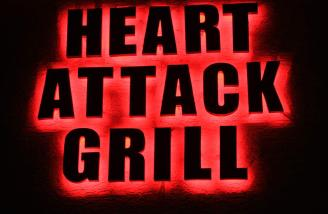 The Heart Attack Grill offers great food and nurses with no medical training.