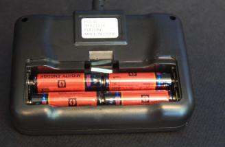Installing the batteries was quick and easy. No tools required to open the battery compartment.