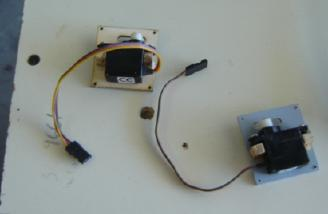 The aileron servos were mounted on the servo covers as shown here.