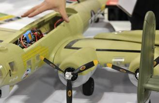 Banana Hobbies' nice large B-17 for under $300.00