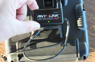 A JR 9303X with a temporary connection of the AnyLink system.