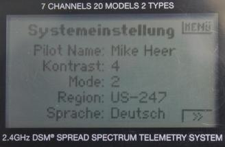 Here I have selected German as the language for the transmitter.
