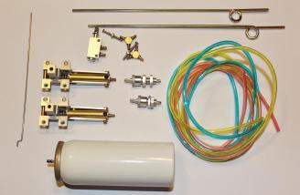 The parts included in the optional retract kit.