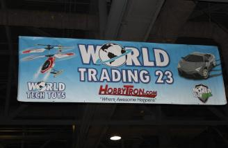 Hobbytron was selling a variety of items including the World's Largest Quad-Copter.