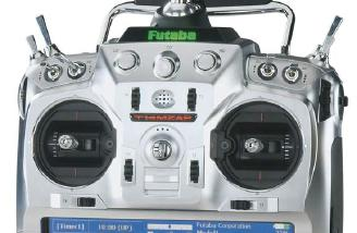 The Futaba T14MZAP is Kirk's transmitter of choice.