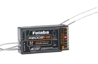 Kirk is using the Futaba R6008HS receiver in his Pulsar4E.