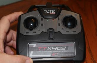 This Tactic transmitter/flight battery charger comes with the RTF version.