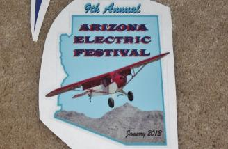 The custom decal for this year's Arizona Electric Festival and my plane's right wing.
