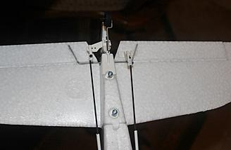 The horizontal stabilizer is secured to the fuselage with two bolts and can be removed for storage or transportation.