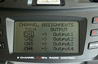 This screen allows functions to be assigned to different channels as discussed below.