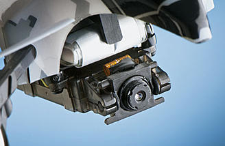 Close up picture of the camera on the 1SQ V-Cam Quadcopter
