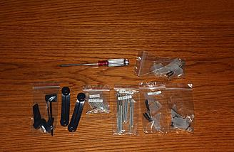 The assorted hardware was nicely packaged to help with the assembly.