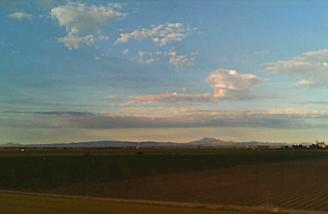In this picture the camera was facing west at that is Mt Diablo off in the distance.