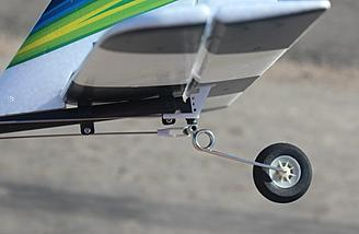 Here is a picture of the tail assemble installed and tail wheel connected to the control rod.
