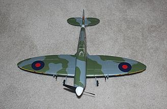 Spitfire restored after crash described above.