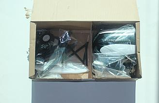 Box of smaller parts with parts in bags