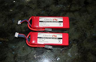 I am using Electrifly 3-cell 2200mAh packs to power my P-38.