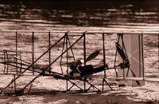 Ezoner JAH's Great  Plane's Wright Flyer photographed in Sepia.