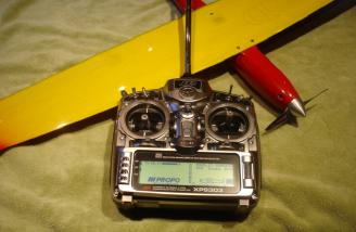 My Jr 9303 all programmed and ready to fly the Sunracer.