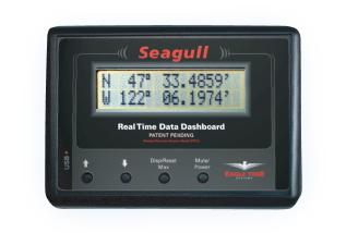 The Seagull showing the GPS unit reading of the latitude and longitude in a company supplied picture.