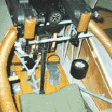 The cockpit of a museum Dr-1