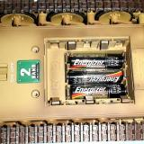 The first layer of AA batteries in the Tiger tank, same on Leopard2 A5.
