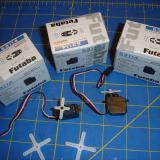 The four Futaba S3114 servos fit perfectly and work great!