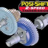 Posi-shift with 2 speed transmission has an adjustable shift point.