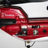 Close up of the rear of the helicopter