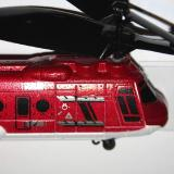 Close up of the front of the helicopter